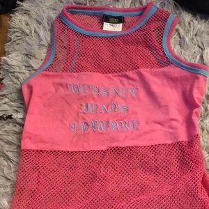 Versace used pink shirt sz small